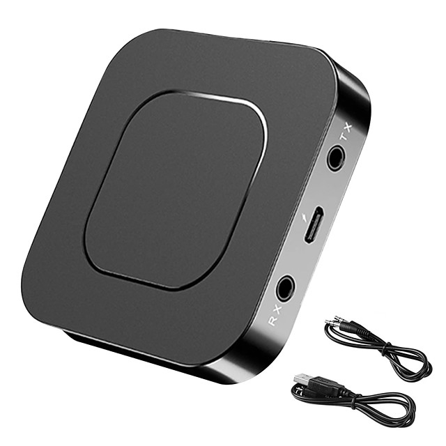 Bluetooth 5.0 Receiver Transmitter 2-in-1 Audio Music Stereo Wireless Adapter USB Adapter 3.5MM AUX Jack For Speaker TV Car PC