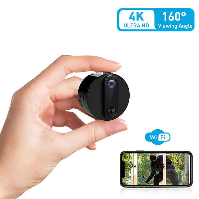 4K Mini Spy Camera Wireless Hidden WiFi Cameras VIONMIO Ultra HD Nanny Cam/Small Spy Cam with Phone App Remote Viewing Auto-Sleep & PIR Motion Activated Auto Night Vision for Home/Indoor/Outdoor
