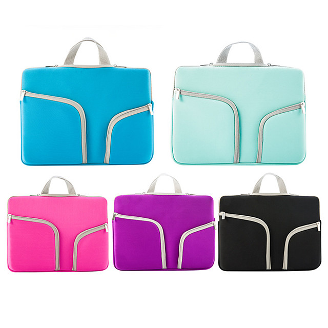 11.6 Inch Laptop / 13.3 Inch Laptop / 15.6 Inch Laptop Sleeve / Briefcase Handbags Polyester Novelty / Textured for Men for Women for Business Office Waterpoof Shock Proof