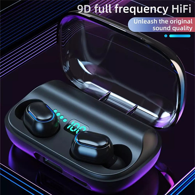 LX_T11 Wireless Earbuds TWS Headphones Bluetooth5.0 with Microphone with Charging Box LED Power Display for Travel Entertainment