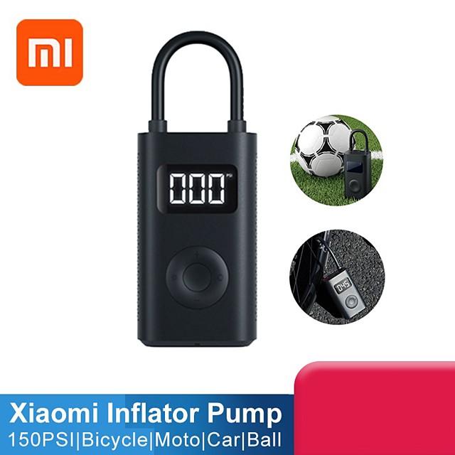 Xiaomi Mi Portable Electric Air Compressor Mini Inflator Smart Digital Monitor Tire Pressure Detection Sensor Electric Pump USB 2000mAh Powerful Multi-Purpose Outdoor for Bike Motorcycle Car Football