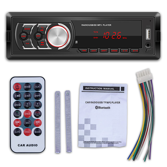 1781E Car Radio Bluetooth Autoradio Aux Input Receiver 12V Stereo MP3 Player Car Radio LCD Screen Car MP3 Player