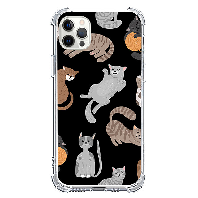 Cartoon Cat Case For Apple iPhone 12 iPhone 11 iPhone 12 Pro Max Unique Design Protective Case Shockproof Back Cover TPU