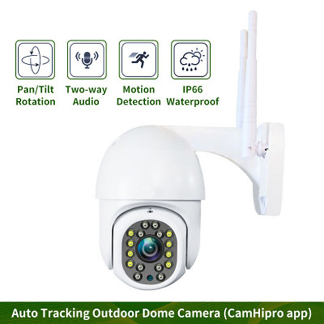 WiFi camera 1080P 3.6mm 2.0MP Ultra Definition Waterproof Bidirectional Audio Motion Detection Alarm Outdoor