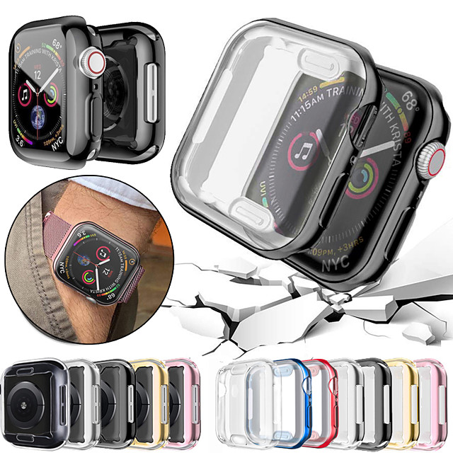 360 Slim Watch Cover for Apple Watch Case 6 SE 5 4 3 2 1 42 MM 38 MM Soft Clear TPU Screen Protector 2 in 1