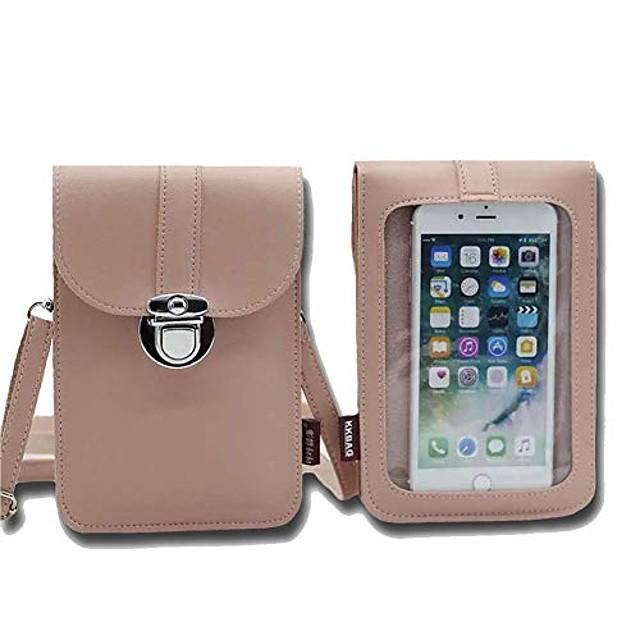 lichtgewicht lederen telefoonbeurs, kleine crossbody tas mini gsm-tasje telefoonzak met mooi pakket.