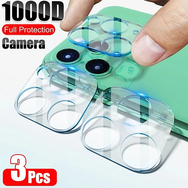 3PCS 9D Camera Protector on for iPhone 12 11 Pro Max Full Back Lens Protective Glass Screen Protector For iPhone 11 Pro Camera Accessories
