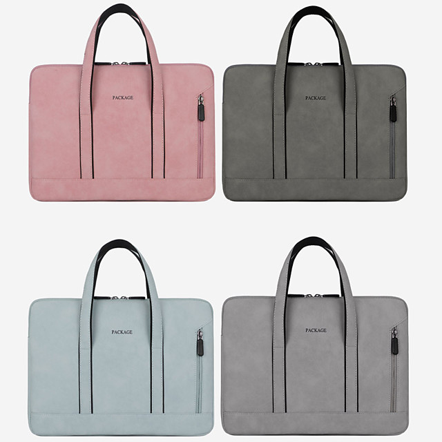 13.3 Inch Laptop / 14 Inch Laptop / 15.6 Inch Laptop Sleeve / Briefcase Handbags / Tablet Cases Polyester Solid Colored / Textured for Men for Women for Business Office Waterpoof Shock Proof