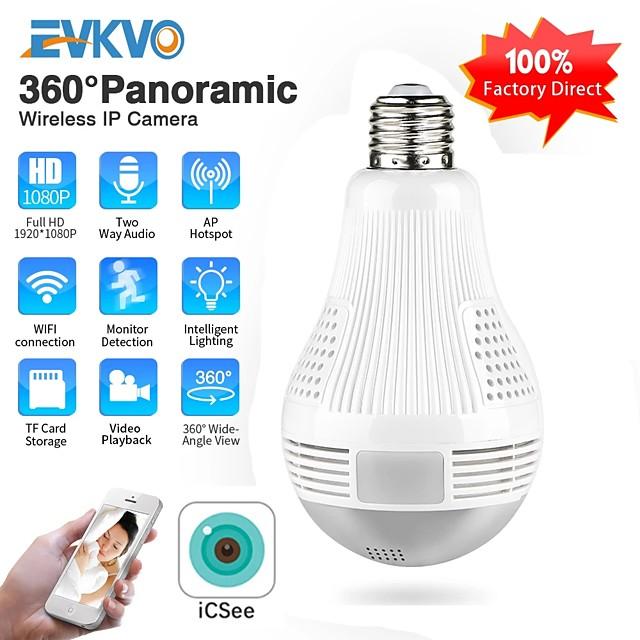 ICSEE HD 360 Panoramic Wifi 1080P IP Camera Light Bulb Home Security Video Camera Wireless CCTV Surveillance Fisheye Network