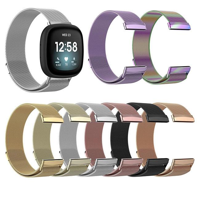 Correa de Smartwatch para Fitbit 1 pcs Correa Milanesa Acero Inoxidable Reemplazo Correa de Muñeca para Fitbit Versa 3 Fitbit Sense