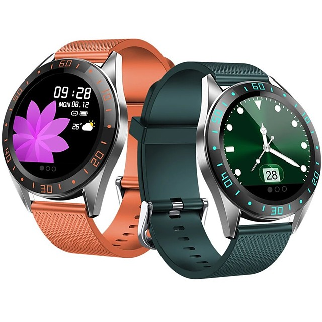 WAZA GT105 1.22inch Fashion UI Heart Rate Blood Pressure Monitor Weather Forecast Smart Watch