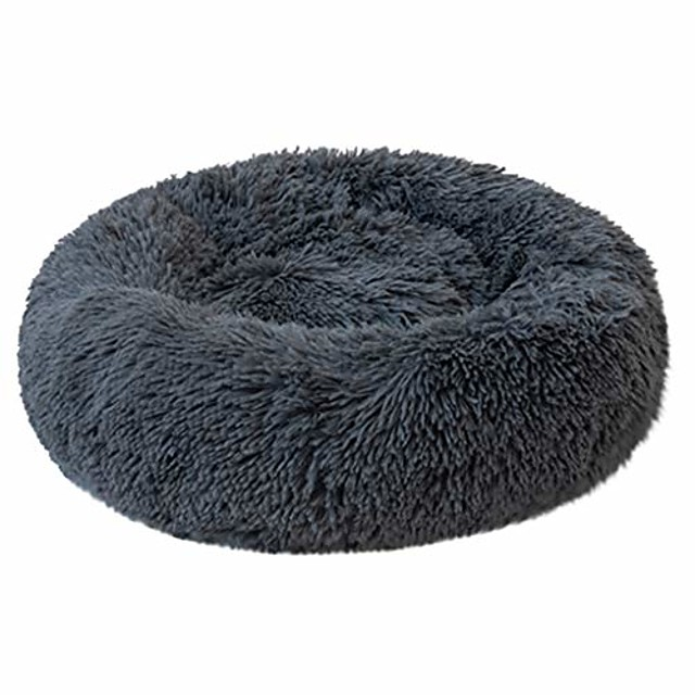 orthopedic dog bed comfortable donut cuddler plush round pet bed ultra soft washable dog and cat cushion sleeping bed