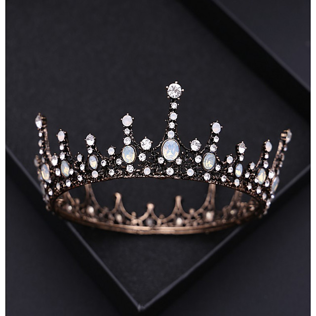 Wreaths Crown Masquerade Retro Vintage Gothic Alloy For Black Swan Cosplay Halloween Carnival Women's Costume Jewelry Fashion Jewelry