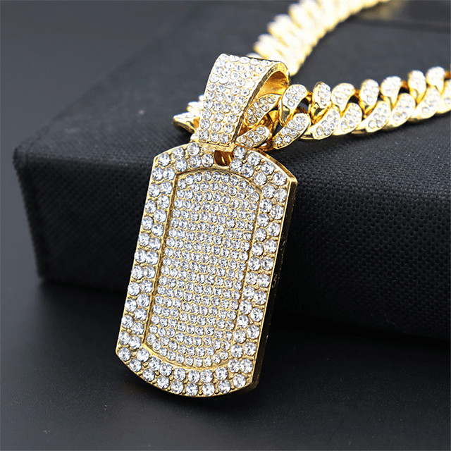 Men's Statement Necklace Cuban Link Trendy Alloy Gold 55 cm Necklace Jewelry 1pc For Street Birthday Party