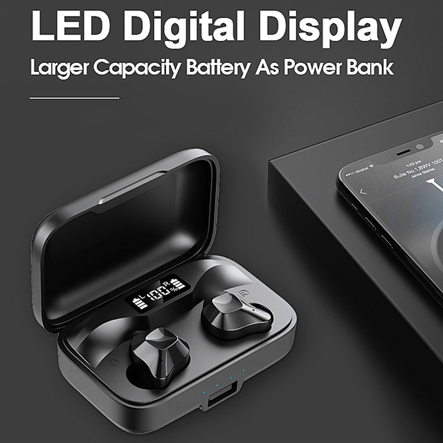 LITBest S15S Wireless Earbuds TWS Headphones Bluetooth5.0 with Microphone with Charging Box for Travel Entertainment