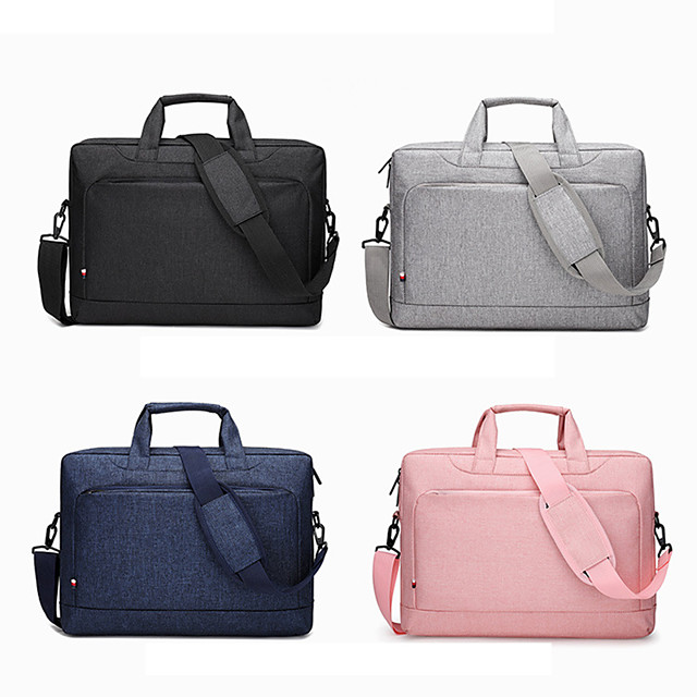 13.3 Inch Laptop / 14 Inch Laptop / 15.6 Inch Laptop Sleeve / Shoulder Messenger Bag / Briefcase Handbags Oxford Fabric Solid Colored / Textured for Men for Women for Business Office Waterpoof Shock