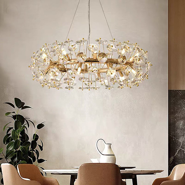 60 cm Crystal Chandelier Luxury Gold Pendant Light Modern Fashion Metal Electroplated Modern 110-120V 220-240V