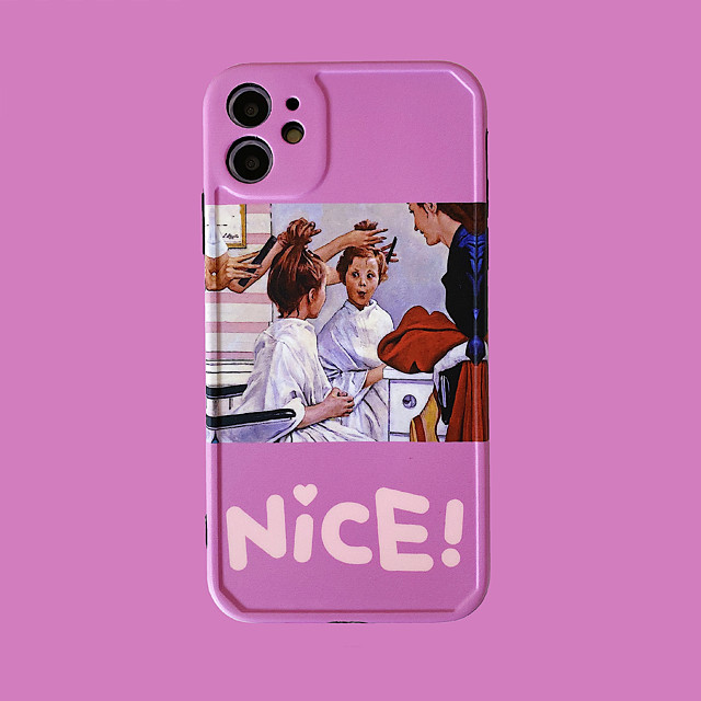 Case For iPhone 11 Pattern Back Cover Word Phrase Cartoon TPU Case For iPhone 11 Pro Max / SE2020 / XS Max / XR XS 7 / 8 7 / 8 plus