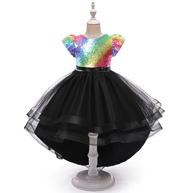 Princess Party Costume Costume Girls' Movie Cosplay Festival / Holiday Golden / Purple / Pink Dress Christmas Halloween Carnival Polyester / Cotton Polyester