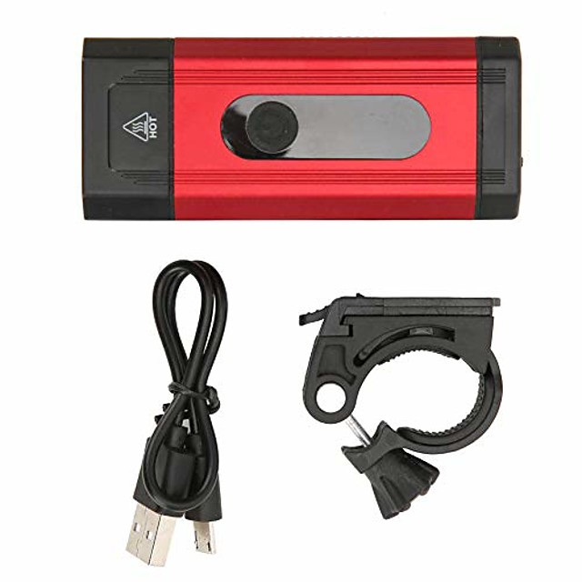 bike front light 800lm usb charging aluminium alloy bicycle head lamp equipment(red)