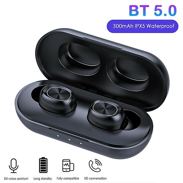 9D Stereo Music In Ear Gaming Earphones 300mAh B5 Bluetooth Wireless Headphones 5.0 TWS Touch Control Waterproof HD Call Headset