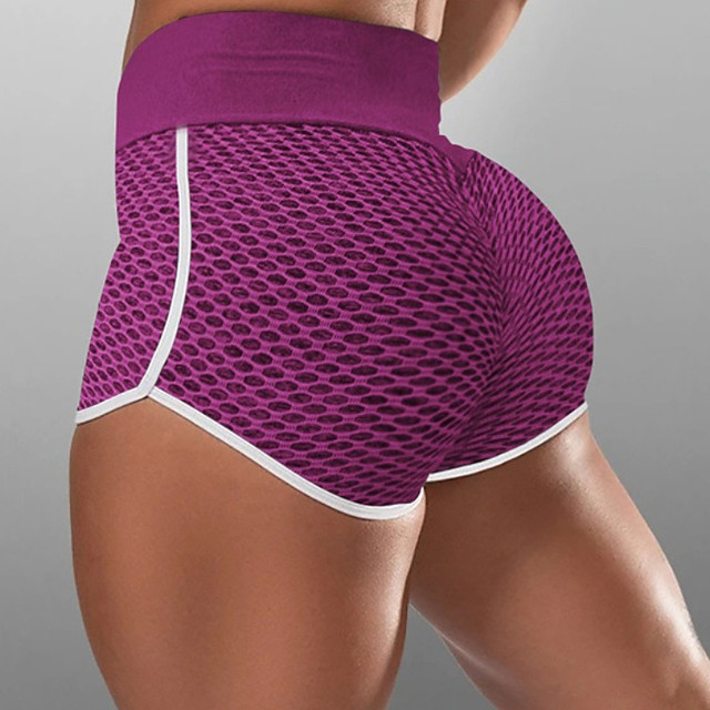 Women's Compression Shorts Running Tight Shorts Street Bottoms with White Trim Fitness Gym Workout Running Jogging Training Breathable Quick Dry Soft Sport Solid Colored Black Blushing Pink Wine Blue