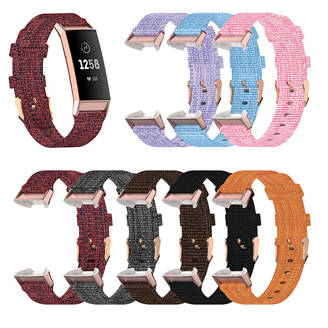 Watch Band for Fitbit Charge 3 / Fitbit Charge 4 Fitbit Sport Band Nylon Wrist Strap