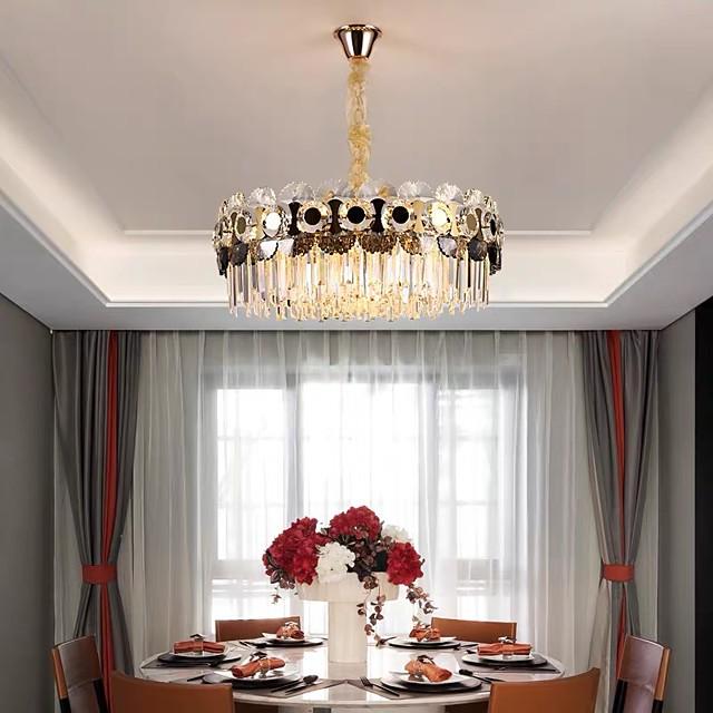 60 cm Crystal Chandelier Pendant Light Modern Luxury Stainless Steel Electroplated 110-120V 220-240V