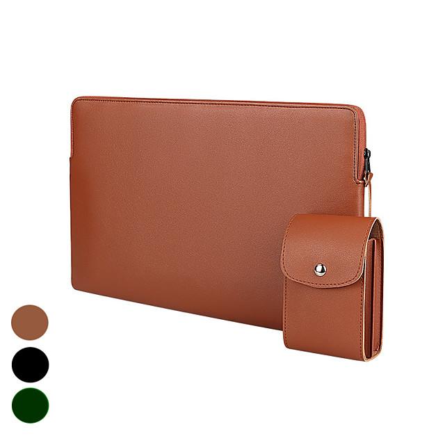 11.6 Inch Laptop / 12 Inch Laptop / 13.3 Inch Laptop/14 Inch Laptop /15 Inch LaptopSleeve PU Leather / Polyurethane Leather Solid Color Unisex Shock Proof