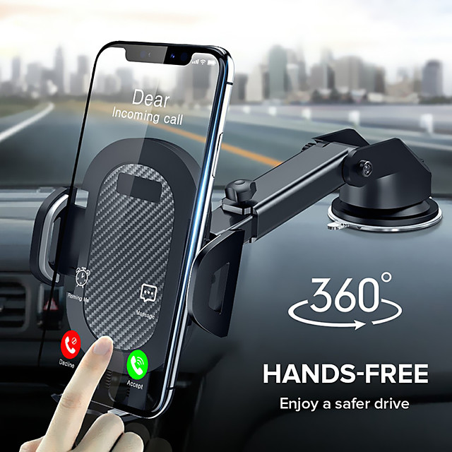 360 Rotation Suction Cup Phone Car Holder Scalable Glass Desk in Car Mobile Holder Stand large Screen Smartphone GPS Auto Bracket