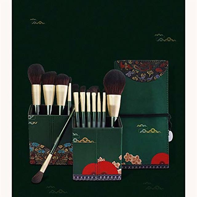 beauty brush, makeup brush, makeup brush set, professional makeup set 12pcs advanced makeup brush set (size : brushes+bag+bucket)