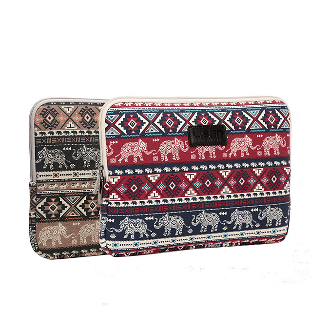 LITBest 11.6 Inch Laptop / 12 Inch Laptop / 13.3 Inch Laptop Sleeve Canvas Printing / Bohemian for Men for Women for Business Office Shock Proof