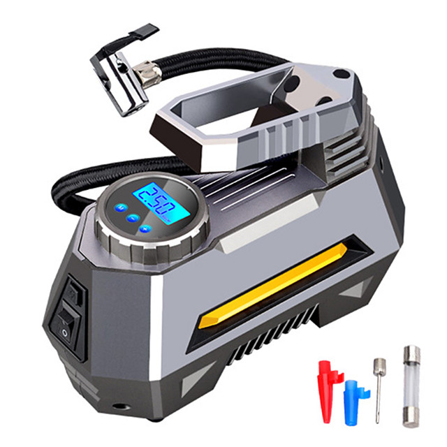 Car Air Compressor Portable Inflatable Pump 12V Automobile Tire Inflator Mini Electric Auto for Travel Boat Air Compressors Tool