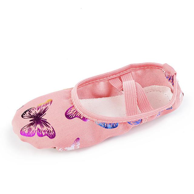 Girls' Dance Shoes Ballet Shoes Flat Flat Heel Pink Elastic Band Kid's