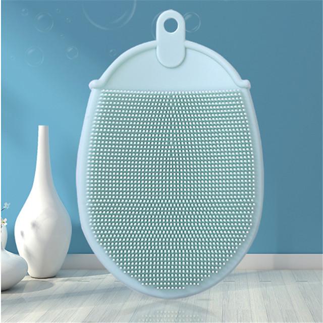 Silicone Massage Care Bath Shower Brush Baby Shampoo Brush Silicone Scrubbing Dish Brush Daily Cleaning Brush