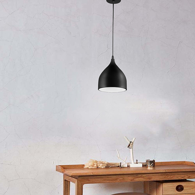 1-Light 17 cm Adjustable Pendant Light Aluminum Bowl Painted Finishes Traditional / Classic / Country 110-120V / 220-240V