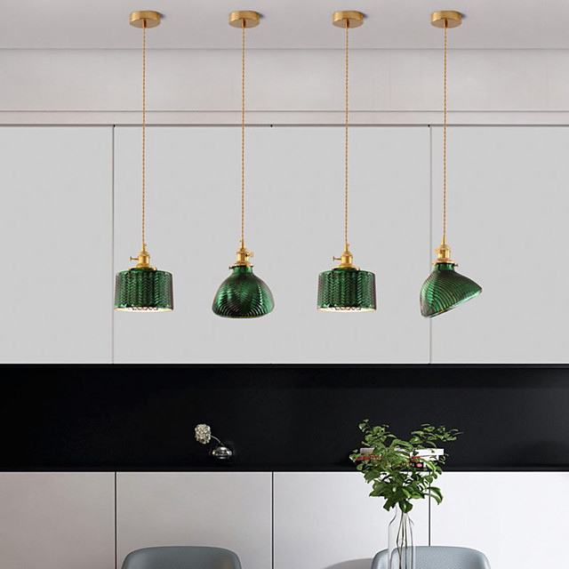 17 cm Pendant Light Bedside Light Vintage Style Gold And Green Copper Brass Modern 110-120V 220-240V