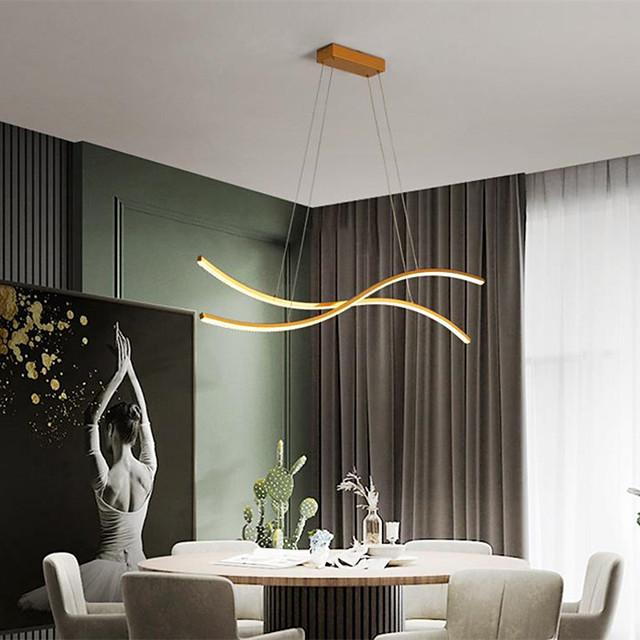 80cm LED Pendant Light Modern Nordic Simple Island Light Living Room ining Room Aluminium Alloy Painted Finishes Nature Inspired 110-120V 220-240V