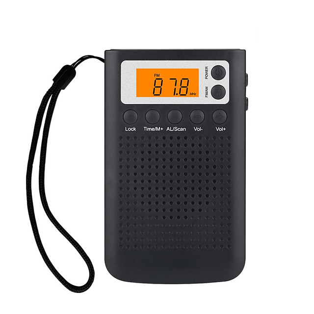 New Mini Radio Portable Stereo Pocket Radio Speaker With Built-in Speaker Headphone Jack AM FM Alarm Clock Radio