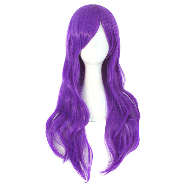28inch 70cm Long Curly Hair Ends Costume Cosplay Wig
