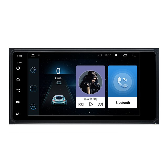 7Inch Android Car Radio 16GB 32GB Optional GPS Navigation 2 Din   Bluetooth Touch Screen Autoradio Car Multimedia MP5 Player For Toyota