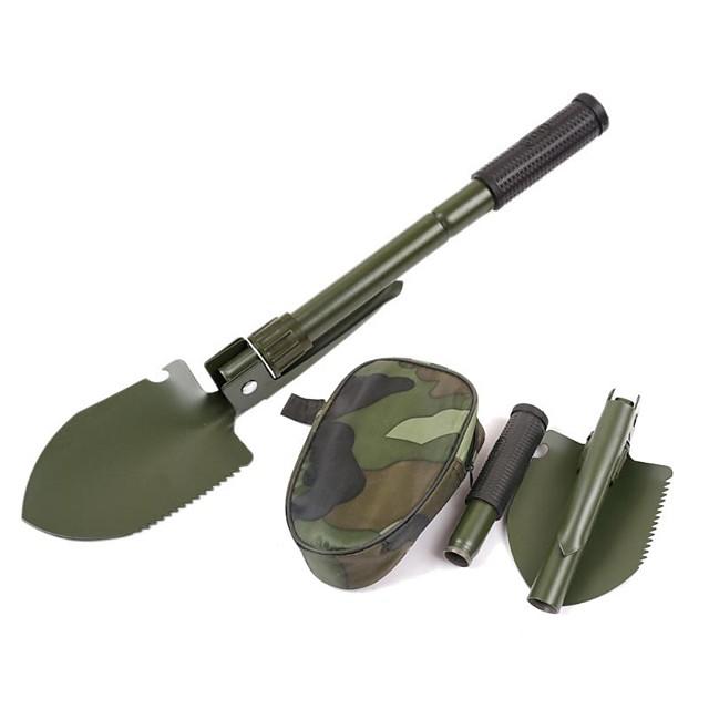 Multifunction Military Portable Folding Camping Shovel Survival Spade Trowel Dibble Pick Emergency Garden Outdoor Tool Multitool