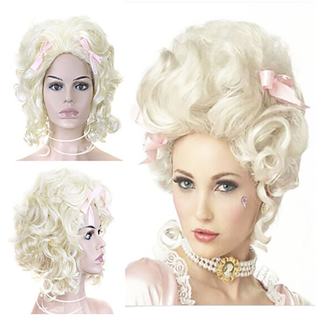 Blonde Wig Fluffy Ladies Short Curly Hair Blonde European And American Fashion Wig Makeup Show Wig