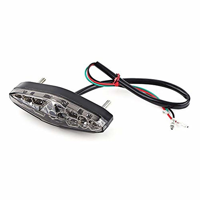 12v brake tail light, 15 led universal motorcycle brake stop running tail light rear light for atv dirt bike(brown)
