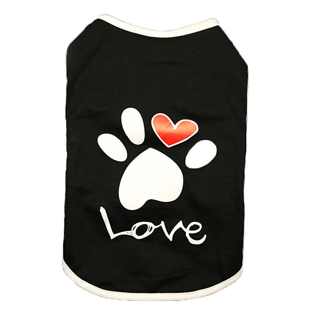 Dog Shirt / T-Shirt Vest Printed Basic Cute Casual / Daily Dog Clothes Puppy Clothes Dog Outfits Breathable White Black Costume for Girl and Boy Dog Cotton XS S M L XL XXL