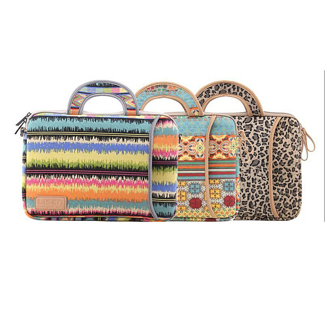 LITBest 13.3 Inch Laptop / 14 Inch Laptop / 15.6 Inch Laptop Sleeve / Briefcase Handbags Polyester Patchwork / Leopard Print for Men for Women for Business Office Waterpoof Shock Proof