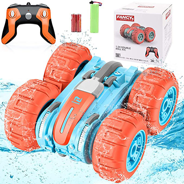 Toy Car Remote Control Car Waterproof Rechargeable 360° Rotation Remote Control / RC 1:24 Buggy (Off-road) Monster Truck Titanfoot Stunt Car 2.4G For Kid's Adults' Gift