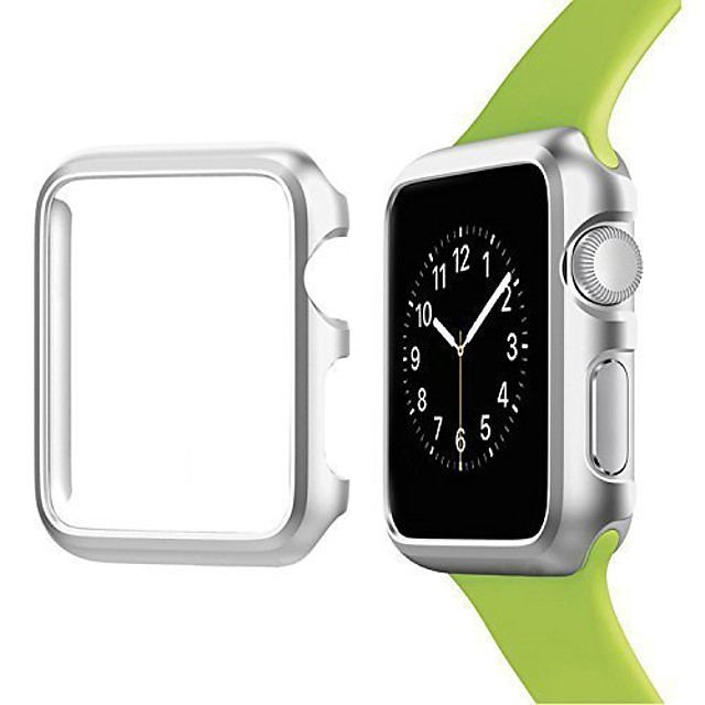 apple watch case  aluminum protective bumper frame cover for apple watch series 3, series 2, series 1, sport and edition anti-scratch [only 3g lightweight] (38mm silver)