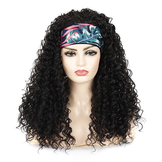 Hairband Wig Headgear Black Long Curly Hair Deep Volume Chemical Fiber Wig Headgear With Hairband Wig Fashion Hairband