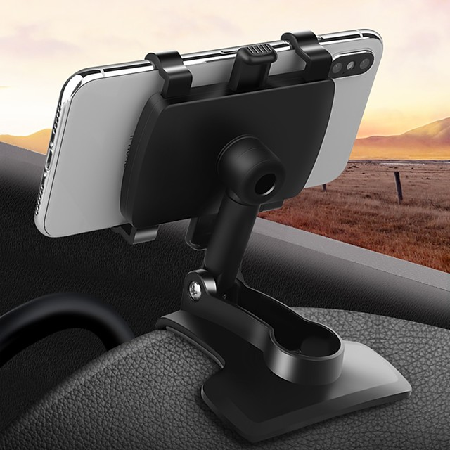 Phone Holder Stand Mount Car Cell Phone Car Holder Buckle Type 360°Rotation ABS Phone Accessory iPhone 12 11 Pro Xs Xs Max Xr X 8 Samsung Glaxy S21 S20 Note20